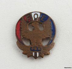 Vintage Fraternal Order of Eagles Pin Badge Fraternal Member Collectible Lapel   eBay