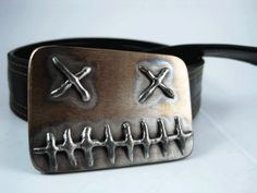 Dead Belt Buckle Stainless Steel Handmade by RhythmicMetal, $65.00