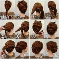 Recogido con trenzas - All For Little Girl Hair Work Hairstyles, Pretty Hairstyles, Civil War Hairstyles, Wedge Hairstyles, Blonde Hairstyles, Vintage Hairstyles, Hair Color For Women, Hair Dos, Gorgeous Hair