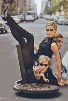 Film + Fashion: Andy Warhol & Edie Sedgwick in NYC manhole