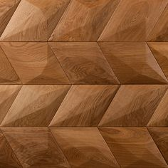Form at wood | Diamond Wooden Wall Panels, Wooden Walls, Geometric 3d, Diamond Wall, 3d Panels, American Walnut, Wall Cladding, Wall Decor, Wall Art