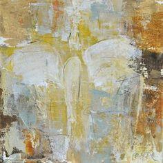 "Original art by Melissa Payne Baker - 8""x8"" Angel in Yellow $285"