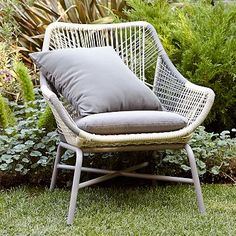 Huron Small Lounge Chair + Cushion – Gray/Seal #westelm  Here is the matching lounge chair to go with the Huron Sofa.  This looks comfortable and easy to move around, as needed.  A little pricey at $499 each, but I get a 10% discount.  I could see using two of these, in combination with the Huron sofa or some of the other items in this Pinterest board.