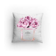 No5 Chanel illustration Decorative Pillows