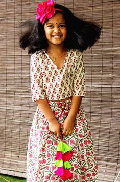 Floral Lehenga, Lehenga Style, Neon Colors, 6 Years, Kids Outfits, High Waisted Skirt, Skirts, Sleeves, Cotton