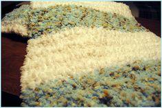Crocheted Baby Blanket Softest Ever Chunky Crochet, Chunky Yarn, Crochet Yarn, Double Crochet, Crochet Stitches, Crochet Blankets, Crotchet, Afghan Patterns, Crochet Patterns
