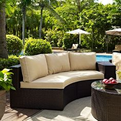 Curved Outdoor Sectional Sofa via The Beach Look. Click on the image to see more!