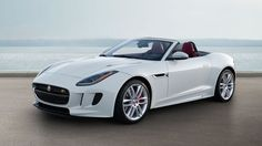F-TYPE R Convertible, Glacier White with optional Red Leather Interior Pack
