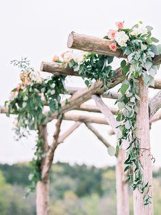 EH- eucalyptus garland for trellis. Photography: Alison Duffy Photography - www.alisonduffyphotography.com
