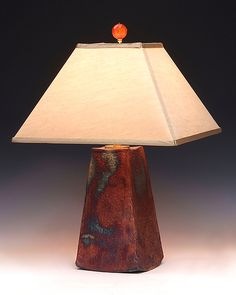 Aurora Lamp by Mary Obodzinski: Ceramic Table Lamp available at www.artfulhome.com