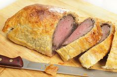 Beef wellington is both a sophisticated dinner and a comfort food if done correctly. Beef Wellington, My Favorite Food, Favorite Recipes, Beef Recipes, Cooking Recipes, Gordon Ramsay, Free Food, Main Dishes, Pork