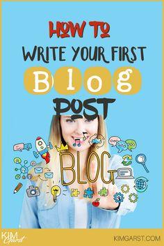 How to Write Your First Blog Post via @KimGarst Online Marketing Strategies, Marketing Tactics, Content Marketing, Writing Tips, Writing Prompts, First Blog Post, Coconut Oil, Blogging, Social Media