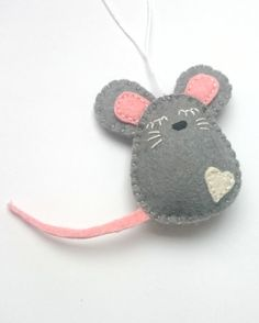 Felt mouse ornament Christmas mice home decor by grabacoffee