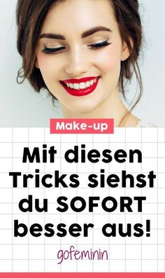 Look better immediately: You should know these make-up tips! - Anne Kuppe - - Sofort besser aussehen: Diese Make-up-Tipps solltet ihr kennen! With THIS make-up tricks you look better immediately! up skin look good - Makeup Tricks, Makeup Tutorials, Natural Hair Mask, Natural Hair Styles, Make Natural, Natural Beauty, Get Rid Of Blackheads, Manicure E Pedicure, Younger Looking Skin