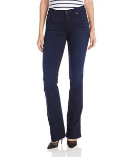 7 For All Mankind Women's Kimmie Bootcut Slim Illusion Luxe Jean in Rich Blue >>> This is an Amazon Affiliate link. Want to know more, click on the image.