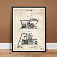 FIRST PHONOGRAPH EDISON INVENTION VINTAGE PATENT ART 18x24 POSTER PRINT 1888 GIFT UNFRAMED Steves Poster Store http://www.amazon.com/dp/B00NH8LILW/ref=cm_sw_r_pi_dp_g9bqwb1R5E33N