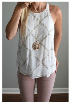 Hello StitchFix Stylist! I LOVE this outfit. The necklace isn't for me but this is a great casual outfit with just the right amount of details/style/embellishment. The top is GORGEOUS! I love the pattern.