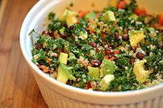 Black bean, kale & quinoa salad