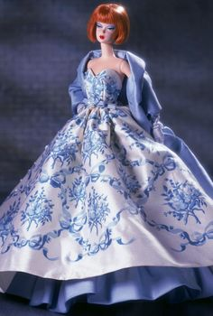 2002 Provencale Barbie® Doll | Barbie Fashion Model Collection *SILKSTONE ....and this is the real owner of the beautiful Provencale dress we've seen on many other FRs and Barbie's!