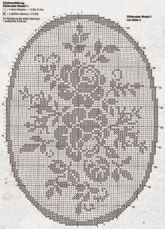 filet rose   Hobby lavori femminili - ricamo - uncinetto - maglia