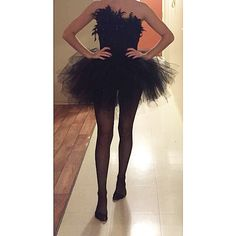 Black swan costume for Halloween    #blackswan #halloweencostum #costum