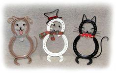 Horse Shoe Dog - Snowman - Cat.jpg (640×403)