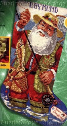 Needlepoint Christmas Stockings, Xmas Stockings, Christmas Projects, Christmas Gifts, Cross Stitch Material, Santa Stocking, Needlepoint Kits, Christmas Paintings, Christmas Cross