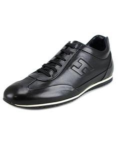 HOGAN Hogan Light 160 Mod.Cucito Rigir.H Riliev Men Round Toe Leather Black Sneakers'. #hogan #shoes #sneakers