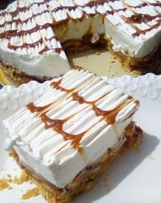 Greek Sweets, Greek Desserts, Cold Desserts, Greek Recipes, Food Network Recipes, Cooking Recipes, Greek Pastries, Greek Appetizers, Cake Recipes