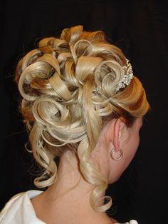 peinado novia, rulos