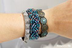 DIY braided beads bracelet // DIY bransoletka - Designyourlife