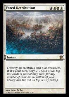 MTG Magic Born of the Gods FATED RETRIBUTION x1 PREORDER Rare NM