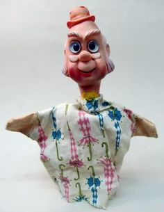 Strange Hand Puppet with Rubber Head