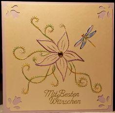 Blumen 21 - Doppelkarte mit Umschlag im Format 13,5 x 13,5 cm