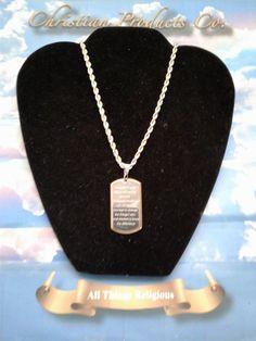 Pendant Women/Men Serenity Prayer Fashion Jewelry 2 tone gold/silver. #ChristianHouse #Chain