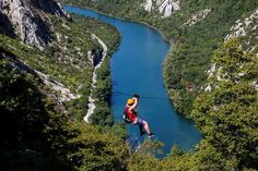Combine sailing holidays in Croatia and adrenaline Zipline entertainment in the canyon of the river Cetina near Omis.