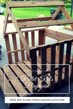 Easy Kid's Pallet Playhouse