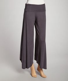 Love this Luna Claire Gray Angel Palazzo Pants by Luna Claire on #zulily! #zulilyfinds