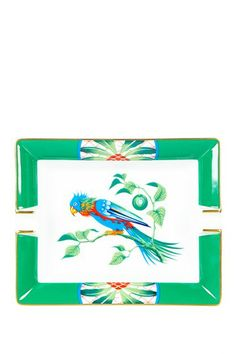 Vintage Hermes Porcelain/Limoges Ashtray with Parrot Circa 1970s by Vintage Favs on @HauteLook