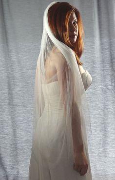 French Silk Tulle Veil 100% Silk Wedding Veil by DistinctiveVeils