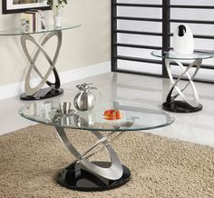 A great way to bring contemporary flair to you living room is with a chic coffee table set!