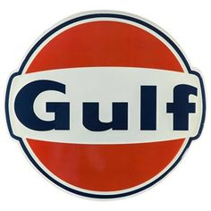"""Reminisce about the good old days with this Large Vintage Gulf Oil Embossed Tin Sign! This antique-inspired tin sign features an old-fashioned Gulf logo in shades of cream, navy blue and red. The perfect gift for a car enthusiast or a lover of all things nostalgic, this piece will make a stunning addition to the wall of your man cave, shop or garage!        Dimensions:      Length: 21 1/2""""    Width: 22 3/4""""          Hanging Hardware: 1 - Sawtooth Hanger"""