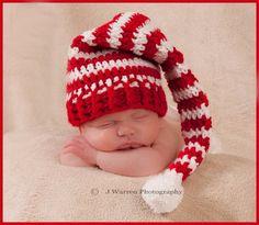 Photography Prop Newborn Hat Christmas Elf/PixieRed by jazmyn1006, $24.00