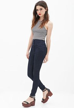 High-Waisted Skinny Jeans | FOREVER21 - 2000059291