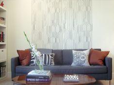 Learn how to make this Marimekko-inspired wallpaper transfer. | 35 Money-Saving Home Decor Knock-Offs