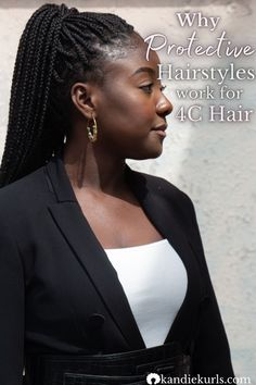 Read here about why protective hairstyles work for 4c hair and why they help it grow! #type4 #moisture #care #regimen #routine #natural #curly #hair #howto #type4c Try On Hairstyles, Different Hairstyles, Natural Hair Tips, Natural Hair Styles, Natural Hair Problems, Hair Facts, Hair Porosity, Protective Hairstyles, Protective Styles