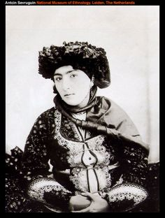 Kurdish noblewoman, by Antoin Khan (1830–1933) was photographer in Iran during at the close of the Qajar dynasty (1785–1925)