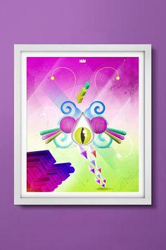 Colour Me. Bela composição no poster de 55x66cm disponível na loja http://locomattive.com