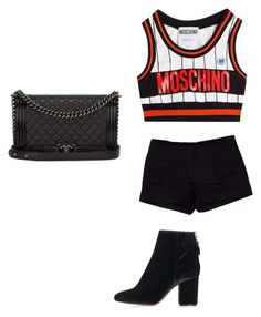"""candy4"" by meanbarbie ❤ liked on Polyvore featuring Moschino, Prada, Topshop and Chanel"