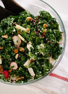 Deb's Kale Salad with Apples, Cranberries and Pecans - cookieandkate.com